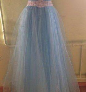 Голубое платье р 38-42 новое