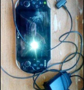 Игровая консоль exeq Set2, разбит экран