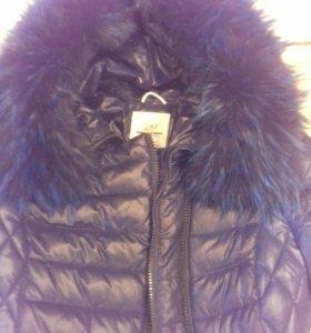 Куртка пальто зимняя на полофайбере размер 40