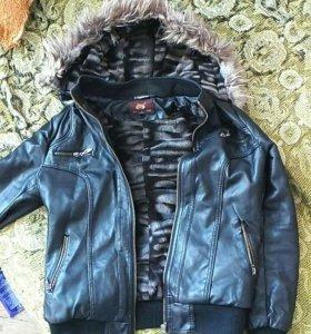 "Куртка ""коженка""тёплая"