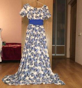 Платье в пол, почти новое!