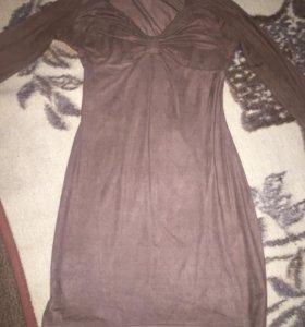 платье  замшевое новое