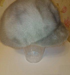 Норковая шапка (голубая)