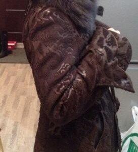Шикарная кожаная куртка с мехом