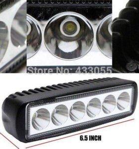 Два прожектора led (1500люм) 6 светодиодов