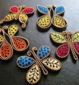 Оригинальные украшения и броши из фетра