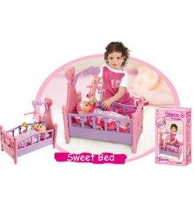 Xiong набор кроватка с мобилем и игрушками