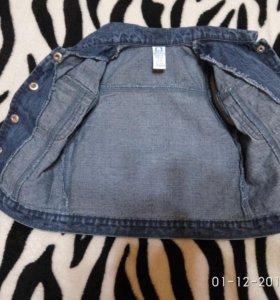 Комплект джинсовой одежды на девочку 1-2 года
