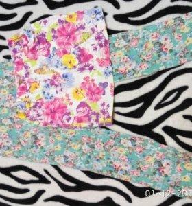 """Летний набор одежды для девочки""""цветы"""""""
