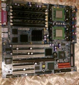 Серверная материнка + 2 процессора + 3 планки