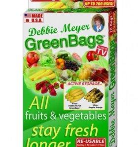 Новые пакеты хранения 9 дней продуктов green bags