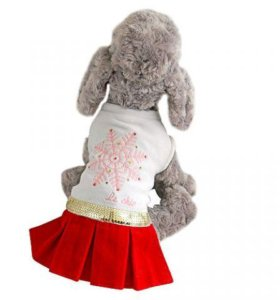 Одежда для собак платье Снежинка