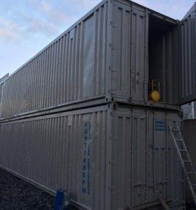 Серый хороший контейнер 40тн