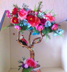 Цветочное дерево - топиарий