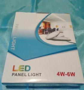 LED светильник, встраиваемый. 6 ватт, тёплый белый