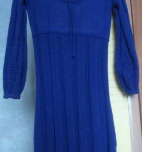 Теплое вязаное платье!