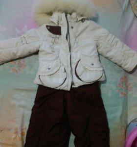 Детский зимний комплект на девочку.