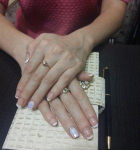 Наращивание ногтей шеллак