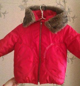 Куртка зимняя детская на девочку