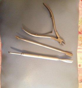Инструменты для маникюра,новые кусачки, пушер