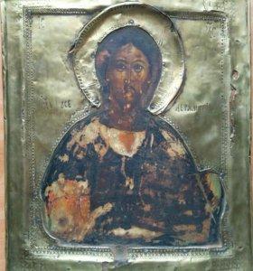 Икона 18 века Господь Вседержитель 30х24
