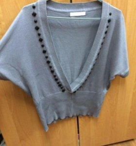 Жилетка женская, на водолазка или свитер