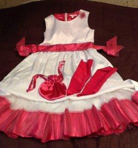 Детское нарядное платье на рост 146