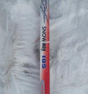 Новые лыжи NN75 185см  с палками