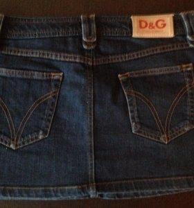 """""""D&G"""" (оригинал) джинсовая юбка"""