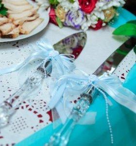 Ножик и лопатка для свадебного торта