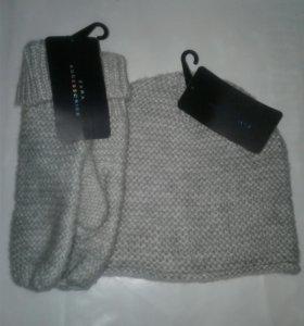 Шапка и варежки Zara (комплект)