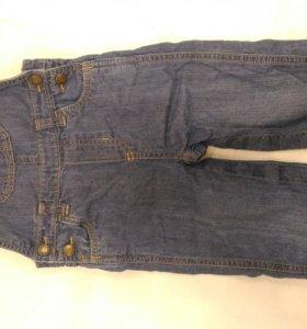 Комбинезон джинсовый 2 года