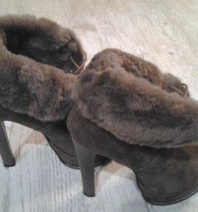Ботинки зимнии женские с мехом