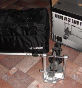 Двойная педаль для бас барабана sonor dp 472r