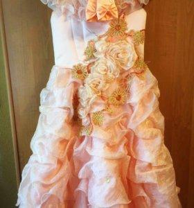 Нарядное платье для девочки 8-11 лет