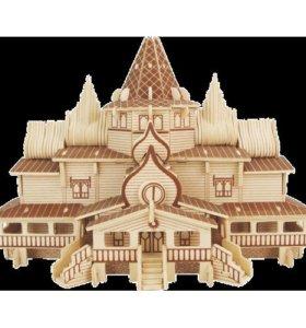 Конструктор Wooden Toys Русский терем (PH032)