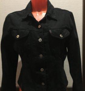 Caroll куртка джинсовая чёрная