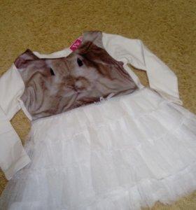 Платье 👗 одевали один раз. Очень милое, красиво!