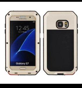 чехол для Samsung galaxy s7 edge. золотой
