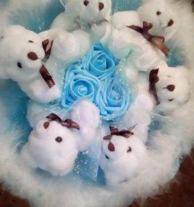 Букет из мишек