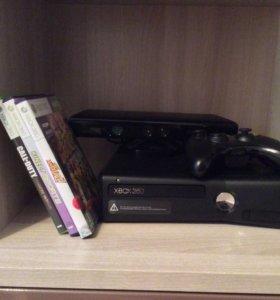 Xbox 360 +Kinect 4Gb