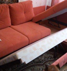 """Угловой диван """"Николь""""с подушками ,цвет """"терракот"""""""