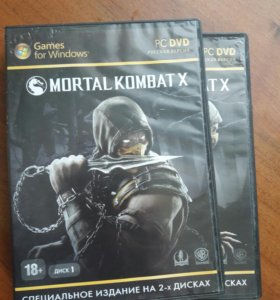 Игра MORTAL KOMBAT X на ПК (игра на двух дисках)