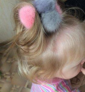Резинки для волос,брелки из меха норки