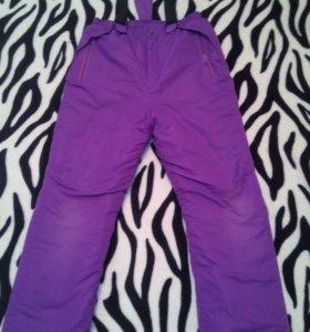 Очень теплые брюки для девочки 9-10 лет