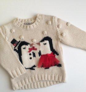 Вязаный свитер next новый