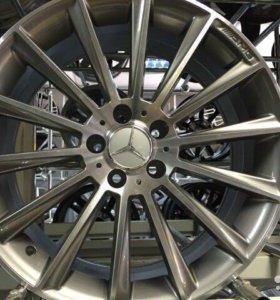 Комплект разношироких дисков на Mercedes S, E