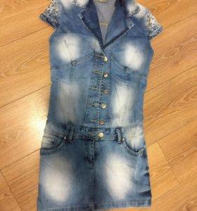 Новое джинсовое платье