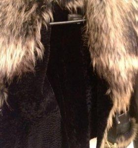 Кожаная куртка на подкладе из овчины
