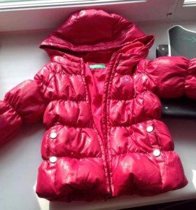 Куртка бенетон на возраст 3-4 года